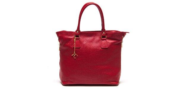 Dámska červená kabelka s bočnými zipsami Renata Corsi
