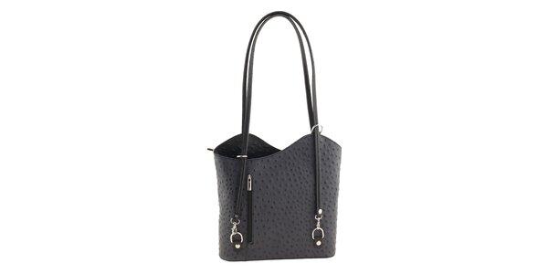 Dámska šedá kabelka s reliéfnym povrchom Ore 10