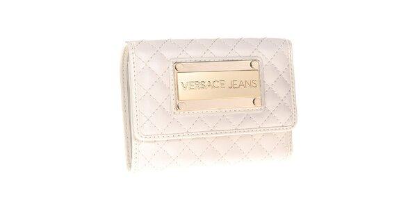Dámska biela prešívaná peňaženka Versace Jeans