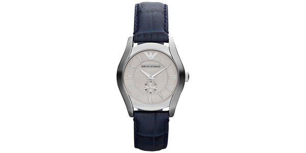 Dámske analógové hodinky s tmavo modrým remienkom Emporio Armani