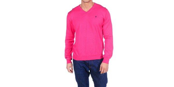 Pánsky sýto ružový sveter Hackett London