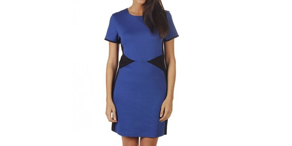 Dámske modré šaty s čiernymi vsadkami Ada Gatii