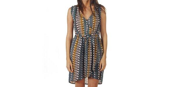 Dámske šaty s farebným aztéckym vzorom Ada Gatti