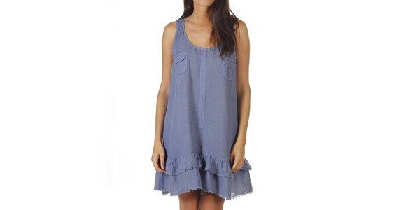 Dámske modré šaty na ramienka Ada Gatti