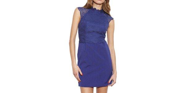 Dámske modré šaty s čipkou Angel Eye
