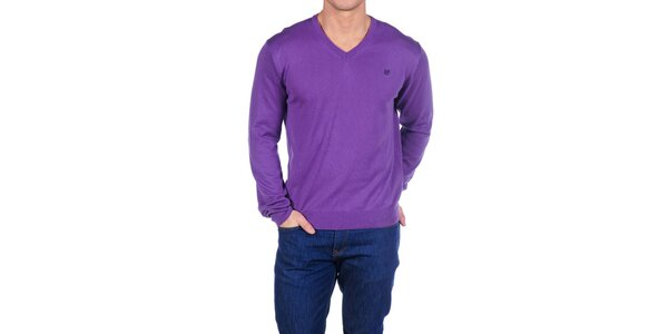 Pánsky fialový sveter Hackett London