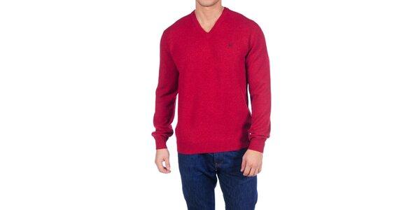 Pánsky temne červený vlnený sveter Hackett London