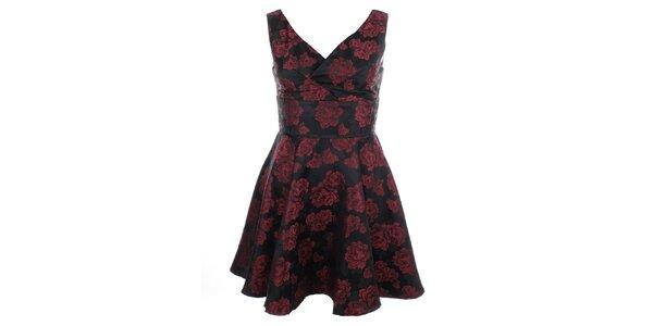 Dámske šaty s červenými kvetmi Iska