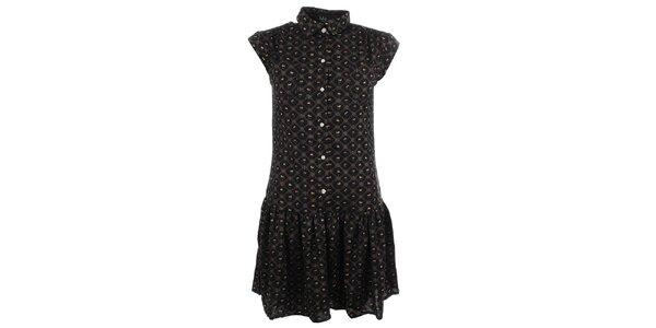 Dámske šaty s jemným vzorom a gombíkmi Iska