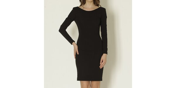 Dámske čierne šaty s odhaleným chrbátom Keren Taylor