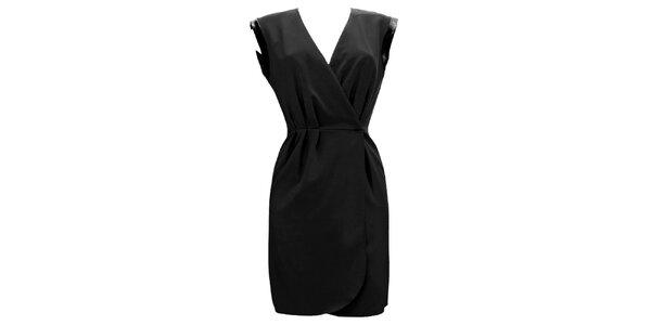Dámske čierne zavinovacie šaty Virginia Hill