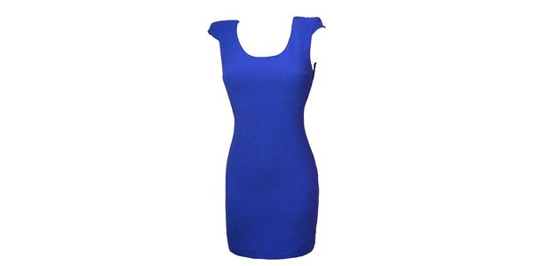 Dámske modré šaty s čipkou Virginia Hill