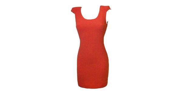 Dámske korálovo červené šaty s čipkou Virginia Hill