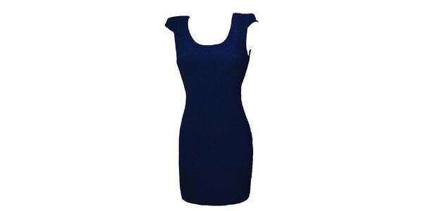 Dámske temno modré šaty s čipkou Virginia Hill