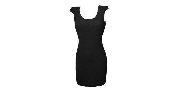 Dámske čierne šaty s čipkou Virginia Hill