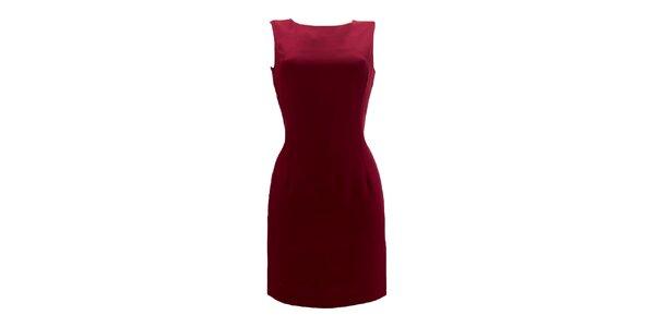 Dámske vínové púzdrové šaty Virginia Hill