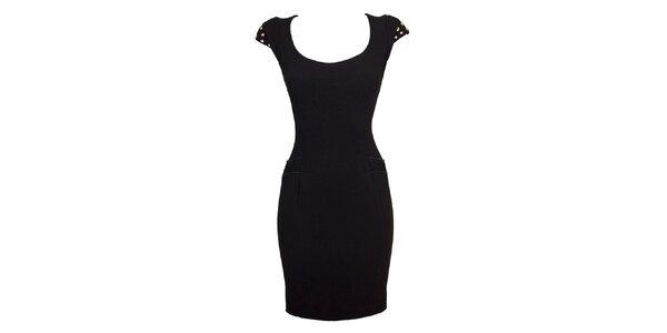 Dámske čierne upnuté šaty Virginia Hill