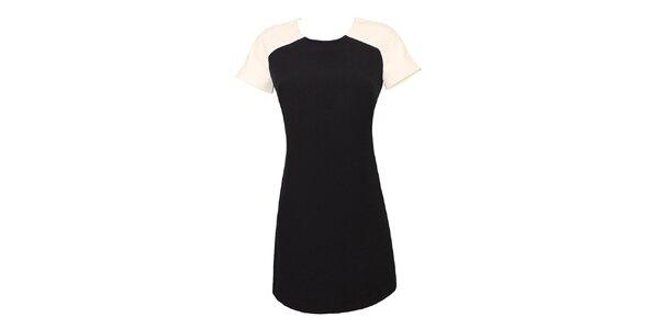 Dámske černo-biele retro šaty Virginia Hill
