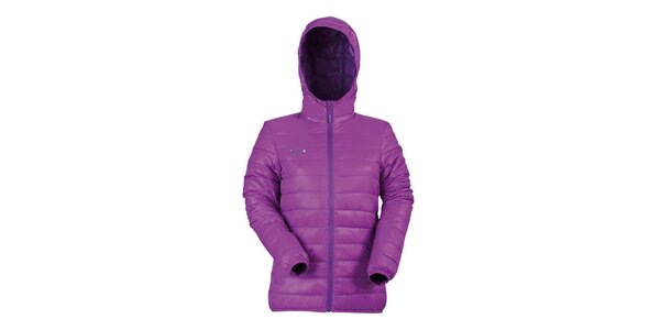 Dámska fialová páperová bunda Izas