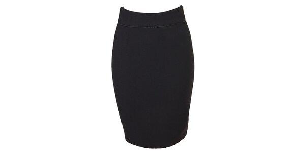 Dámská černá sukňa so zipsom Virginia Hill