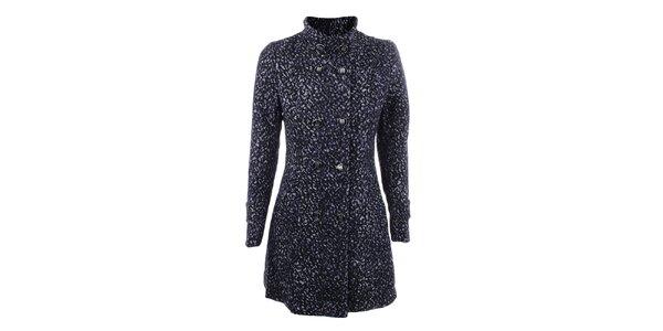 45fa325ba8 Výpredaj dámskych búnd a kabátov – všetko skladom. Táto kampaň už skončila.  Dámsky modrý kabát DY Dislay Design so vzorom