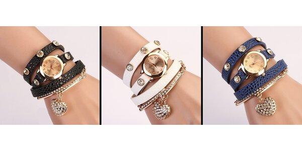 Trendy štýlové hodinky so skrášleným náramkom alebo príveskom. Poštovné zadarmo!