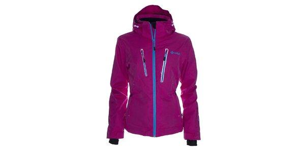 Dámska ružová snowboardová bunda s modrým zipsom Kilpi