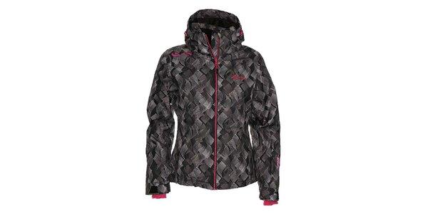 Dámska čierna snowboardová bunda so vzorom Kilpi