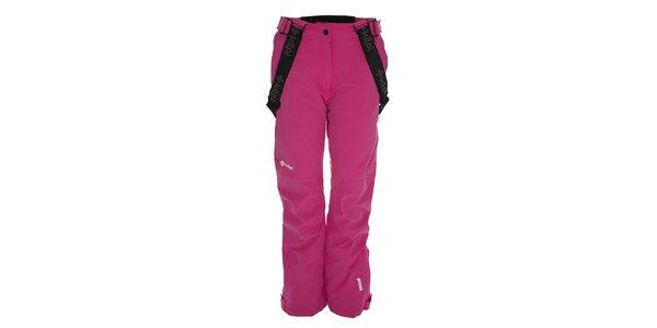 Dámske ružové lyžiarske nohavice so šlami Kilpi