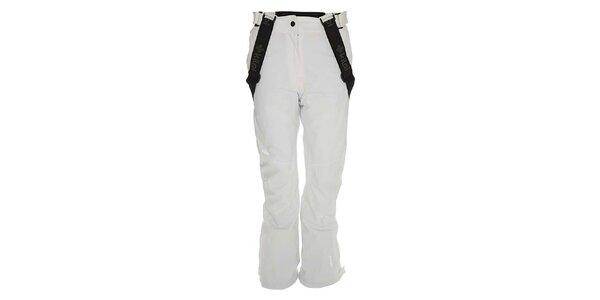 Dámske biele lyžiarske nohavice so šlami Kilpi