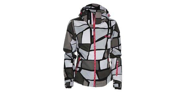 Dámska vzorovaná bunda na snowboard Kilpi