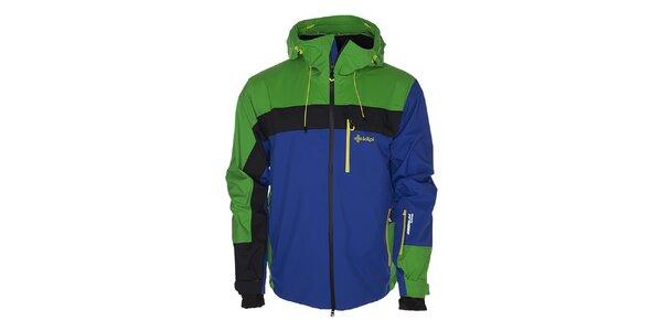 Pánska modro-zelená lyžiarska bunda Kilpi