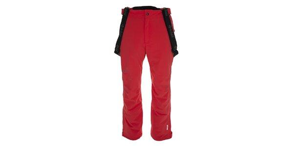 Pánske červené lyžiarske nohavice s trakmi Kilpi