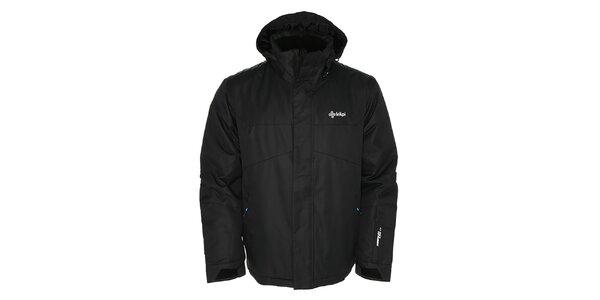 Pánska čierna lyžiarska bunda s kapucňou Kilpi