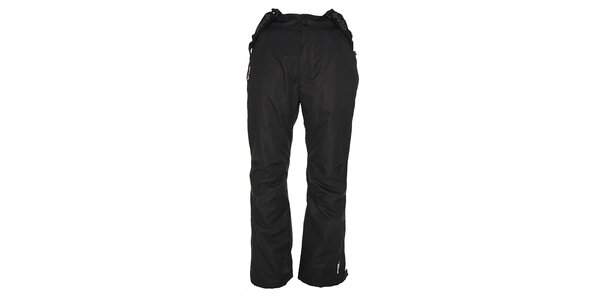 Pánske čierne lyžiarske nohavice s odopínacími šlami Kilpi