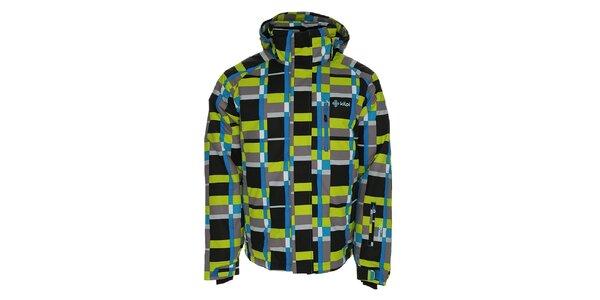 Pánska farebne vzorovaná lyžiarska bunda Kilpi