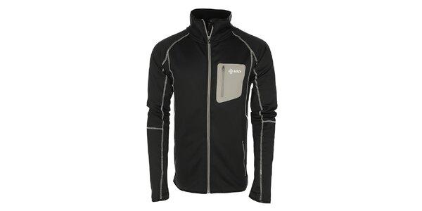 Pánska čierna bunda z fleecu Kilpi