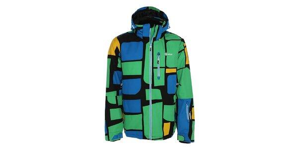 Pánska modro-zelená bunda snowboardová bunda Kilpi
