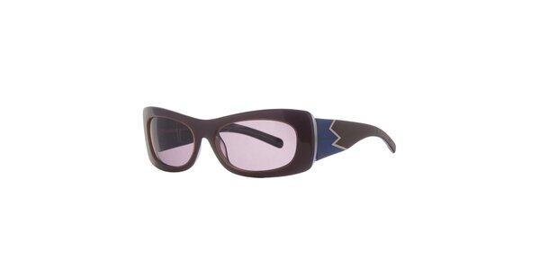 Dámske hnedo-modré retro slnečné okuliare Agatha Ruiz de la Prada