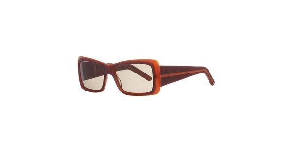 Dámske vínovo-oranžové slnečné okuliare Agatha Ruiz de la Prada