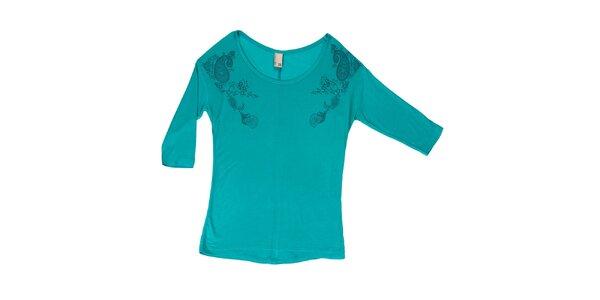 7b1261963867 Dámske tyrkysové tričko s okrúhlym výstrihom Urban Surface