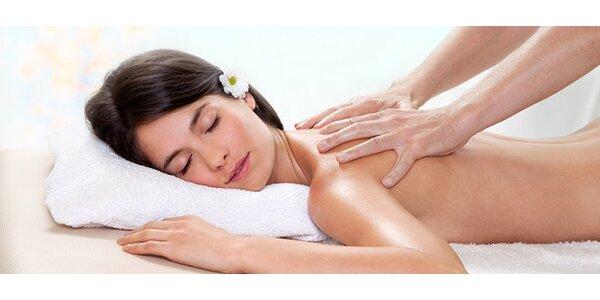 klasická-relaxačná masáž chrbta + 15 minútová masáž podľa vlastného výberu