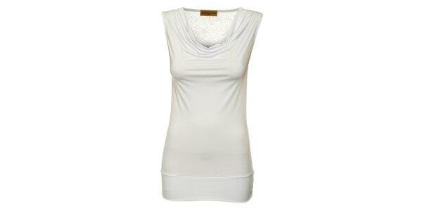 Dámsky biely top Comptoir des Parisiennes s čipkovaným chrbtom