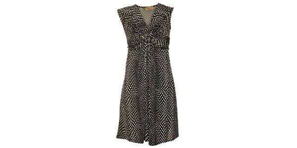 Dámske čierne bodkované šaty Comptoir des Parisiennes