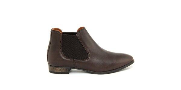 Dámske tmavo hnedé členkové topánky Giorgio Picino