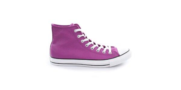Fialové členkové topánky Converse