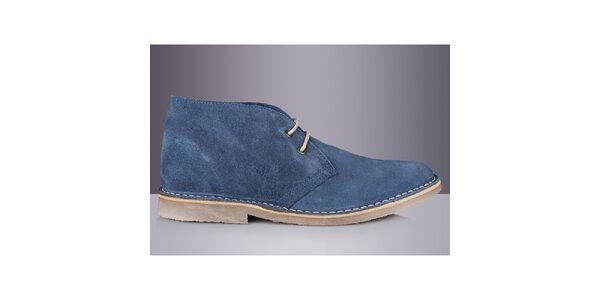 Pánske modré členkové topánky Roamers