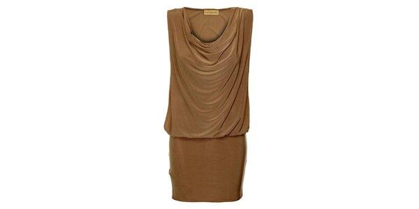 Dámske hnedé šaty Comptoir des Parisiennes
