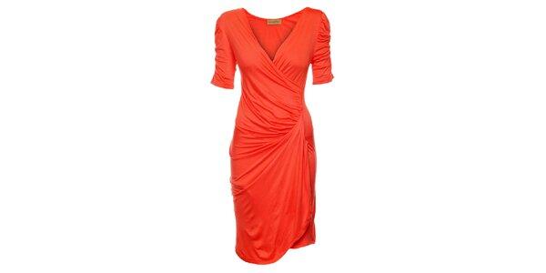 Dámske korálovo ružové šaty Comptoir des Parisiennes