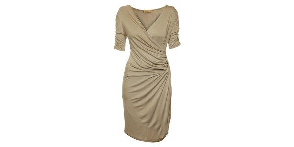 Dámske hnedobéžové šaty Comptoir des Parisiennes